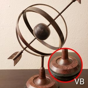 Vintage Armillary Sphere Bronze Office Decor.